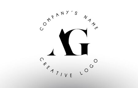 Letters Ag A G Logo with a minimalist design. Simple AG Icon with Circular Name Pattern. Creative Stamp Vector Illustration with letters A and G.