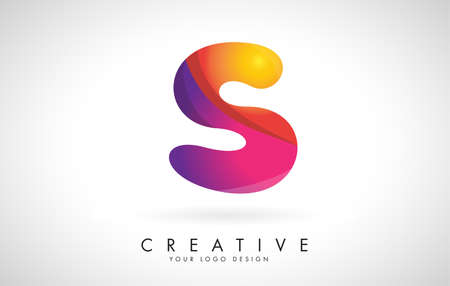 Letter S Creative Logo Design. Vector Font of twisted Ribbon for Title, Header, Lettering, Logo and Corporate Identity. Colorful rounded Letter S. Friendly Corporate Entertainment Media Technology Digital Business template.