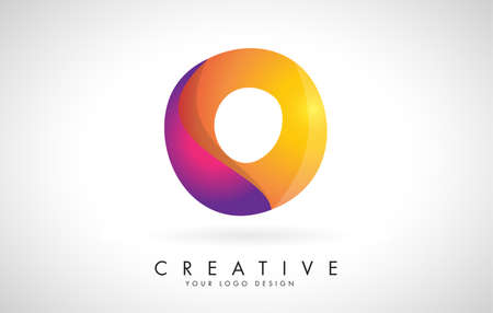 Letter O Creative Logo Design. Vector Font of twisted Ribbon for Title, Header, Lettering, Logo and Corporate Identity. Colorful rounded Letter O. Friendly Corporate Entertainment Media Technology Digital Business template.