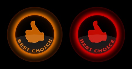 red and gold best choice button Vector