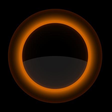 Orange glossy blank internet button. Shape icon on black background. 10 eps Stock Vector - 13498450