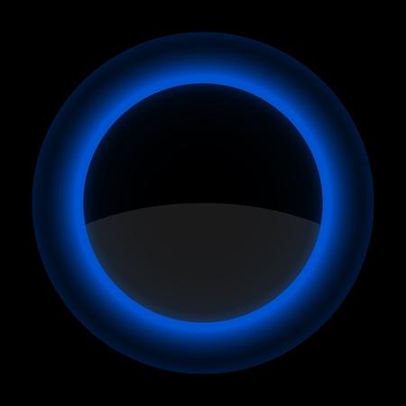 블루 광택 빈 인터넷 버튼을 누릅니다. 검은 배경에 아이콘 모양. EPS 10 일러스트