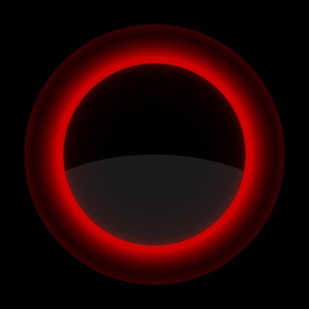 inet: Red glossy blank internet button. Shape icon on black background.  Illustration