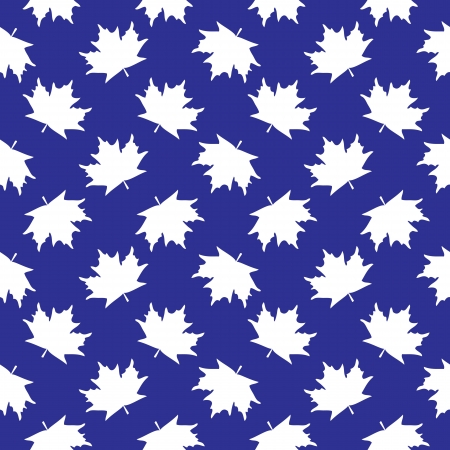 Seamless texture of maple leaves. The illustration on blue background Vector