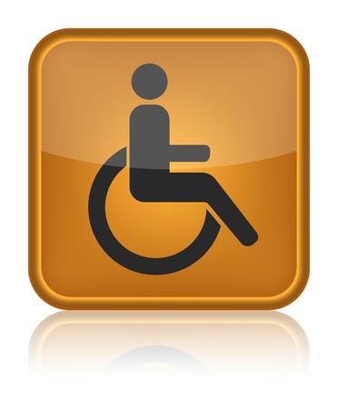 handicap sign: handicap or wheelchair person symbol, vector