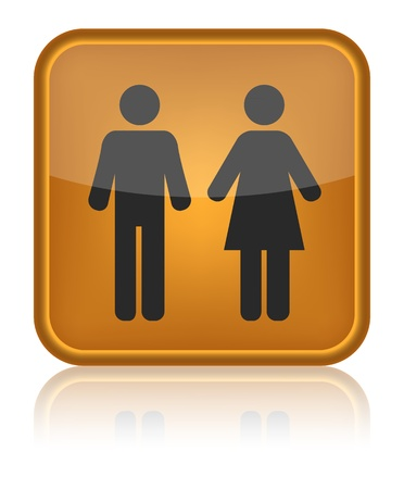 icon toilet, Man & Woman, vector illustration Vector