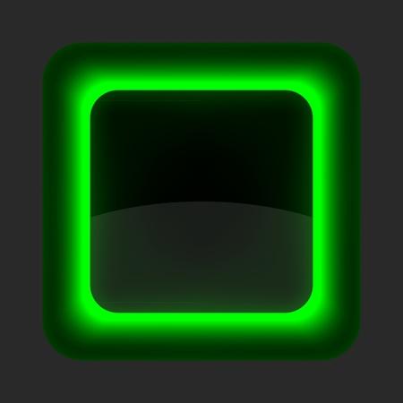 viso: Bot�n verde brillante de Internet en blanco. Redondeado icono de forma cuadrada sobre fondo gris.