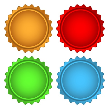 Set of Colorful Vector Sample stickers