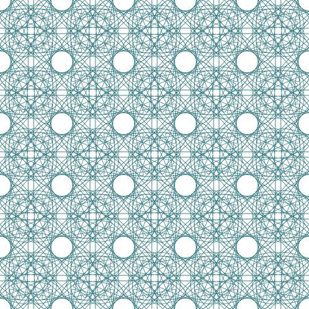 tangier: Vector seamless green illustration of tangier grid, abstract guilloche background