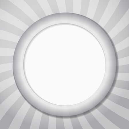 Abstract background of grey round frame with sun rays. Template for a text Stock Vector - 16380898