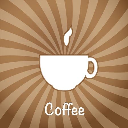 sip: La taza de caf� sobre un fondo marr�n