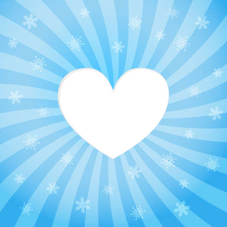 Abstract background. Heart with snow Stock Vector - 16380893