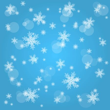 Snow fall. Abstract winter background Stock Vector - 16380899