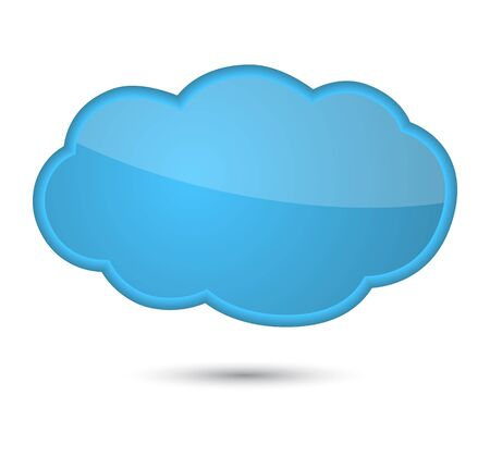 Cloud, isolated on white background.  illustration Stock Vector - 16464269