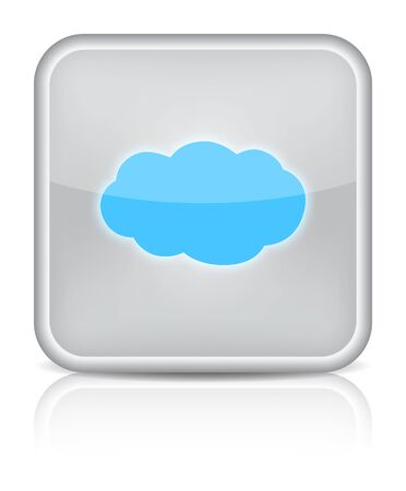 Weather web icon with cloud on white background   Stock Vector - 16520826