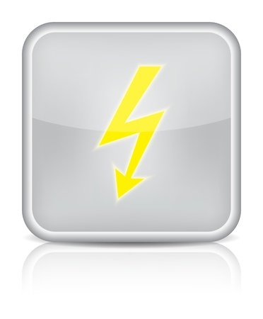 lightning icon on white background  Stock Vector - 16520811