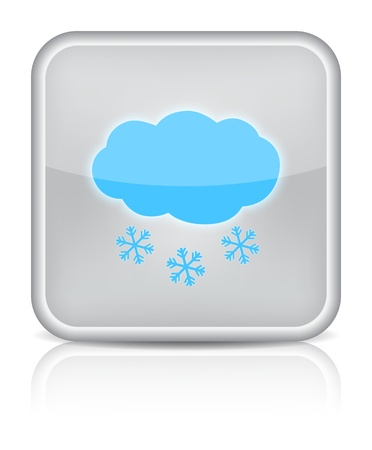 Weather web icon with snow on white background   Stock Vector - 16520829