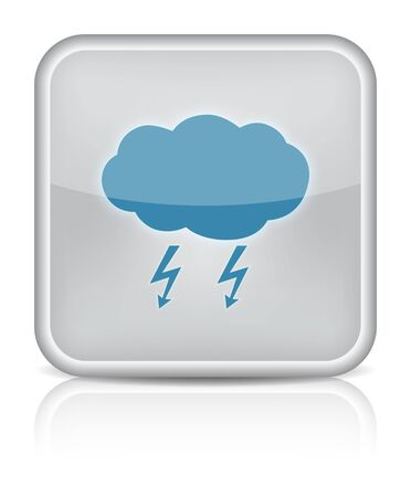 Weather web icon with storm on white background Stock Vector - 16520832