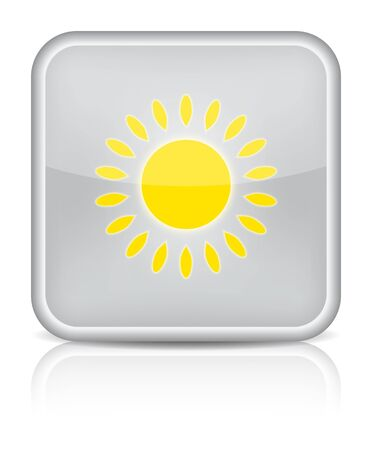 Weather web icon with sun on white background   Vector