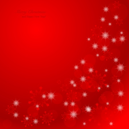 Elegant Christmas background with snowflakes and place for text. Vector Illustration. Vector