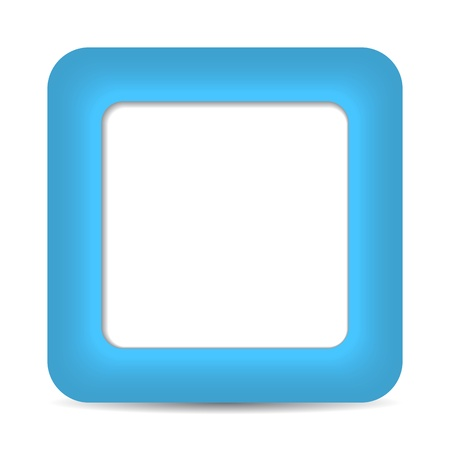 Blue glossy blank internet button. Rounded square shape icon on white background. 10 eps Stock Vector - 16700846