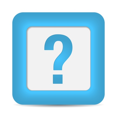 question icon: question icon on blue button. vector