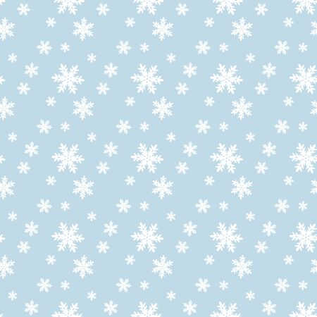 Seamless blue pattern with snowflakes. Vector illustration Stock Vector - 16700861