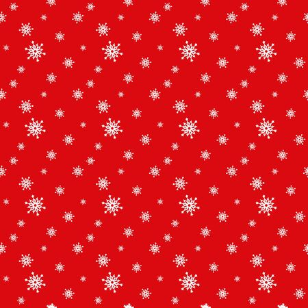 Seamless red pattern with snowflakes. Vector illustration Stock Vector - 16700860