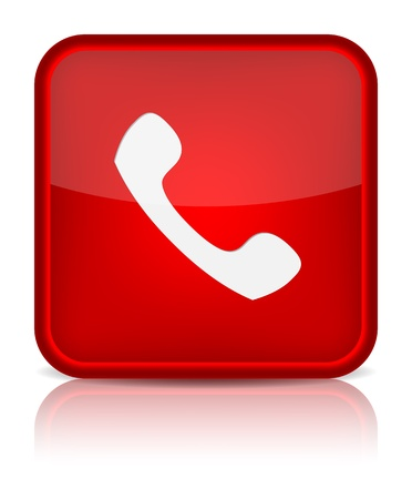 mobile operators: Phone icon on red button.