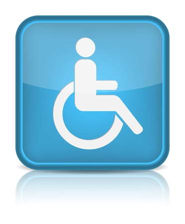 disabled parking sign: handicap or wheelchair person symbol,