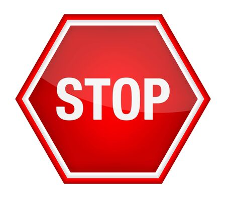 Stop sign.  Stock Vector - 16924227