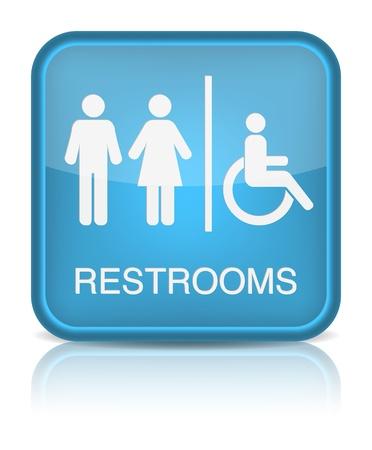 화장실 표지판.