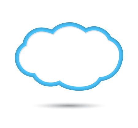 Cloud, isolated on white background.  illustration Stock Vector - 17178998