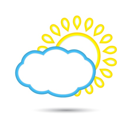 abstract sun and cloud icon. Stock Vector - 17179010