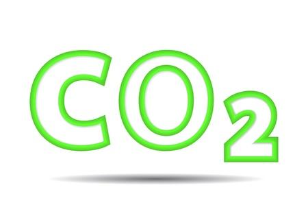 co2: reduce CO2.   Illustration