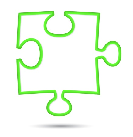 jig saw puzzle: puzzle web icon design element.  illustration Illustration
