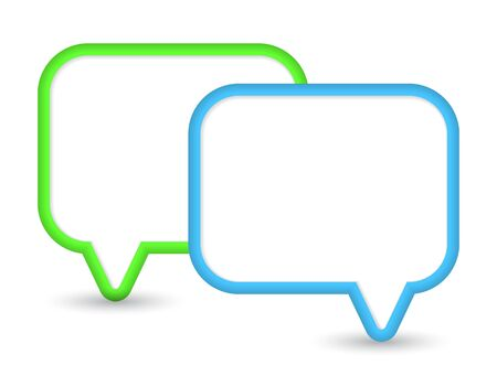 Two shiny speech bubbles  background Stock Vector - 17179014