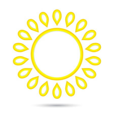 abstract sun icon.   Stock Vector - 17179011