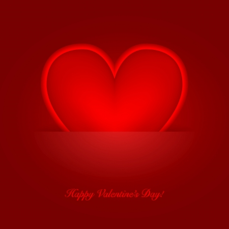 Heart label from Valentines day  card background Stock Vector - 17179020