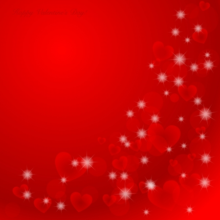 pretty s shiny: Elegant Valentines day background with hearts and place for text  Illustration.