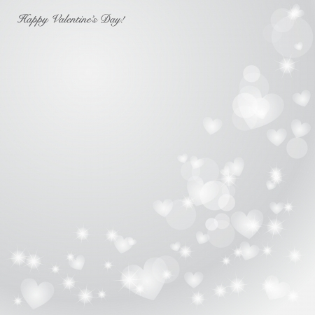Elegant Valentine's day background with hearts and place for text  Illustration. Stock Vector - 17179022