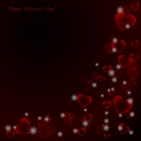 Elegant Valentine's day background with hearts and place for text Illustration. Stock Vector - 17179023