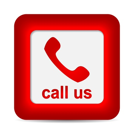 phone button: Call Us. Phone icon on red button.