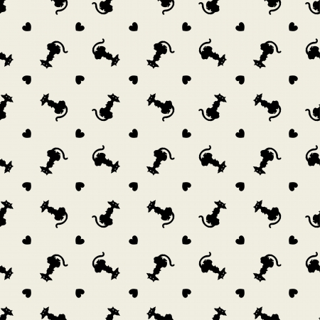 Stylish black cats pattern Stock Vector - 17337160