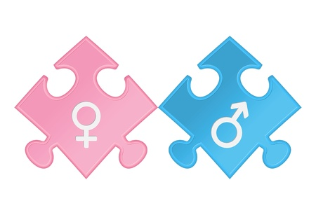 Male and female sex symbols Stock Vector - 17597668