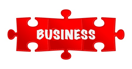 pieces of puzzle and word  business Stock Vector - 17597714