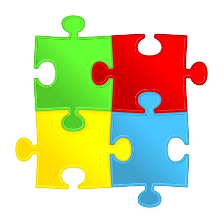 puzzle piece: Rompecabezas abstracto del fondo Solution Vectores