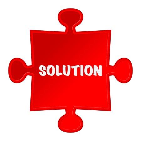Puzzleteile und Wort-Lösung