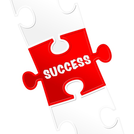 pieces of puzzle and word  success Stock Vector - 17597710