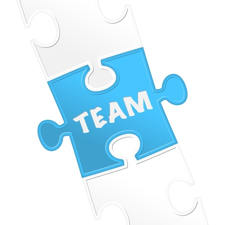 pieces of puzzle and word  team   Stock Vector - 17597705